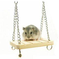 CARNO 倉鼠原木鈴鐺小鞦韆