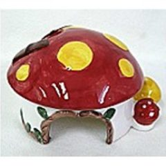 陶瓷 蘑菇屋 Gold