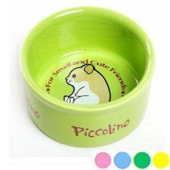 招財鼠陶瓷圓形食盆 (粉藍, 草綠, 亮黃, 豹紋紅)