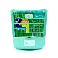 Jolly 角落固定式食盆牧草架(籠內式) (藍綠、粉紅、咖啡)