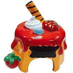 陶瓷 手繪水果蛋糕屋 Drawf