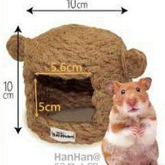 MiniAniman 天然黃麻 倉鼠小屋 (無底部)